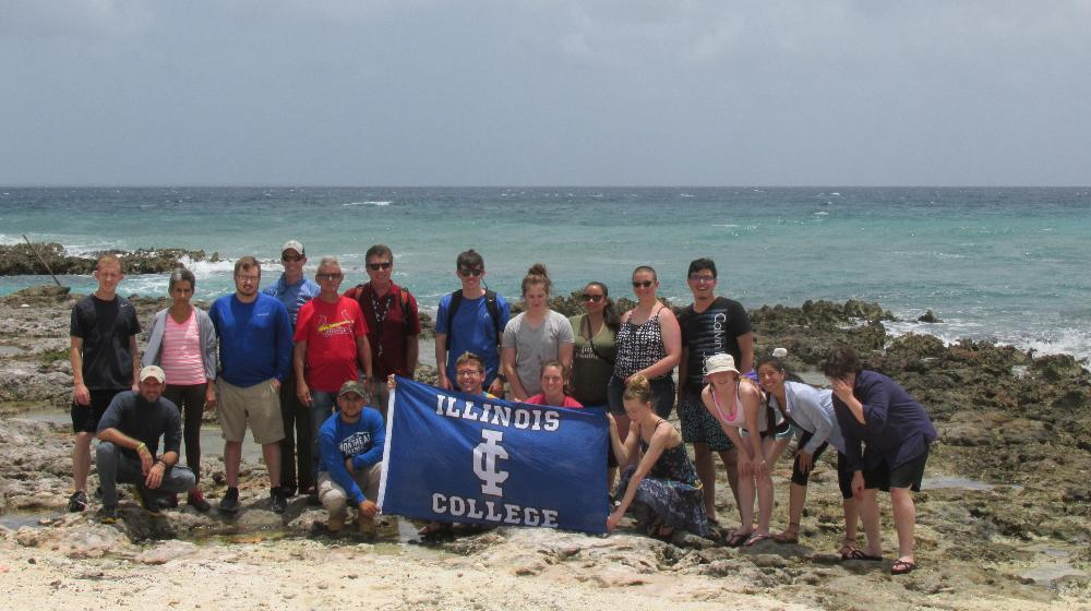 students in cuba with IC banne